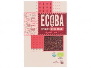 Gạo lứt hữu cơ Ecoba Huyết Rồng hộp 1kg