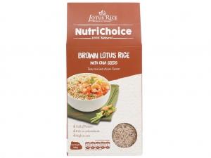 Gạo lứt Jasmine hương lài hạt chia Lotus Rice NutriChoice hộp 0,5kg
