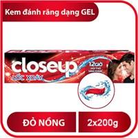 Kem đánh răng CloseUp lốc xoáy gel đỏ nồng 200g (2 tuýp)