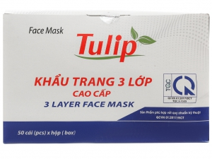 Khẩu trang Tulip 3 lớp hộp 50 cái