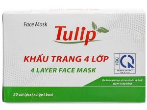 Khẩu trang Tulip 4 lớp hộp 50 cái - giao màu ngẫu nhiên