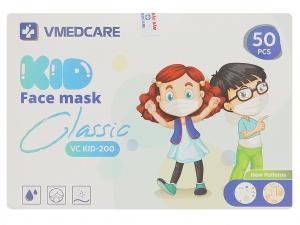 Khẩu trang y tế trẻ em VMEDCARE 3 lớp hộp 50 cái - giao màu ngẫu nhiên