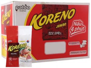 Thùng 10 túi mì Koreno Jumbo vị bò cay 1kg
