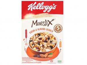 Ngũ cốc Kellogg's Mueslix vị nho khô hạnh nhân hộp 375g