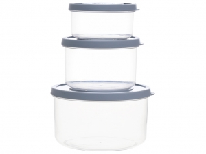 Bộ 3 hộp nhựa PP tròn Inochi