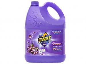 Nước giặt xả Swat romantic hương hoa thiên nhiên can 3.8kg