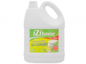 Nước rửa chén IZI HOME hương sả chanh can 4kg