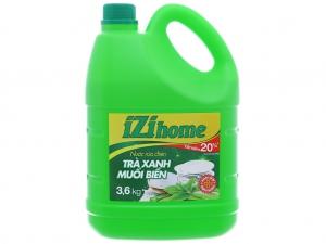 Nước rửa chén IZI HOME hương trà xanh muối biển can 3.6kg