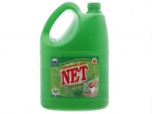 Nước rửa chén NET kháng khuẩn hương trà xanh can 3.88 lít