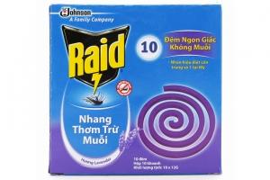 Nhang thơm trừ muỗi Raid hương Lavender 120g