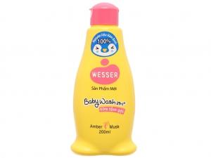 Tắm gội toàn thân cho bé Wesser Amber Musk 200ml