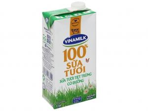 Sữa tươi có đường Vinamilk 100% Sữa Tươi hộp 1 lít