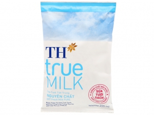 Sữa tươi tiệt trùng nguyên chất không đường TH true MILK bịch 220ml
