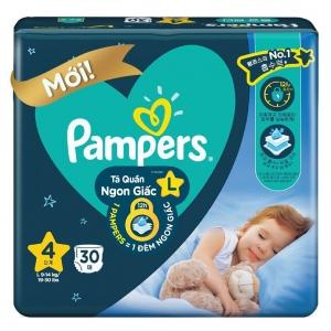 Bỉm tã quần Pampers ngủ ngon size L 30 miếng (9-14kg)