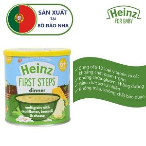 Thức ăn bổ sung dành cho trẻ từ 6 tháng tuổi trở lên:Bột ngũ cốc, súp lơ,bông cải và phô mai -Heinz multigrain with cauliflower, broccoli & cheese