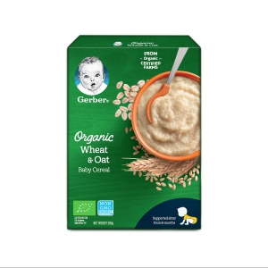 Thực phẩm bổ sung Gerber Organic Lúa mì Yến mạch