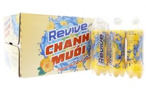 Nước ngọt vị chanh muối Revive chai 390ml (thùng 24 chai)