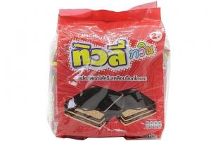 Bánh xốp Tivoli Twin nhân kem Socola gói 15.4g (túi 24 gói)