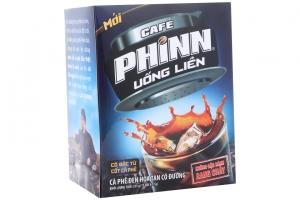Cà phê đen hòa tan Phinn có đường gói 17g (hộp 15 gói)