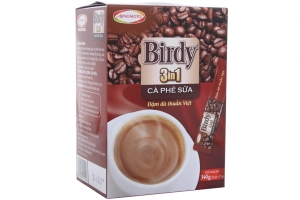 Cà phê sữa 3 in 1 Birdy gói 17g (hộp 20 gói)