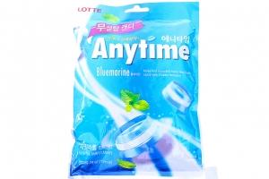 Kẹo cứng Lotte Anytime Bluemarine hương Bạc Hà gói 74g