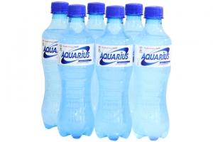 Nước uống vận động Aquarius chai 390ml (lốc 6 chai)