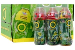 Nước giải khát trà xanh 0 độ hương Chanh 500ml (thùng 24 chai)