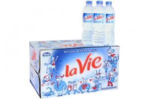 Nước khoáng Lavie chai 500ml (thùng 24 chai)