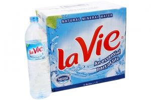 Nước khoáng Lavie chai 1.5 lít (Thùng 12 chai)