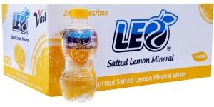 Nước khoáng Leo vị Chanh muối chai 350ml (thùng 24 chai)