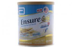 Sữa bột Ensure Gold hương lúa mạch ít ngọt lon 400g