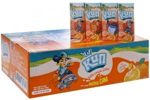 Sữa chua uống tiệt trùng Kun vị Cam hộp 180ml (thùng 24 hộp)