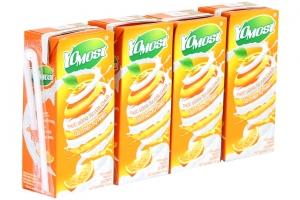 Sữa chua uống Yomost vị Cam hộp 170ml (lốc 4 hộp)