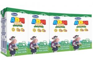 Sữa tiệt trùng ADM Gold có đường hộp 110ml ( lốc 4 hộp)