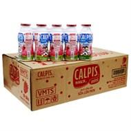 Sữa chua uống Calpis mini vị Dâu chai 80ml (thùng 40 chai)