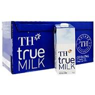 Sữa tiệt trùng TH True Milk có đường 1 lít (thùng 12 hộp)