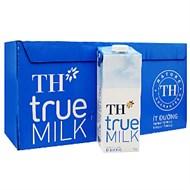 Sữa tiệt trùng TH True Milk ít đường 1l (thùng 12 hộp)