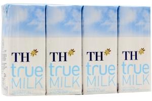 Sữa tiệt trùng TH True Milk nguyên chất 180ml (lốc 4 hộp)