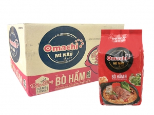 Thùng 100 gói mì nấu 4 phút Omachi vị bò hầm 100g