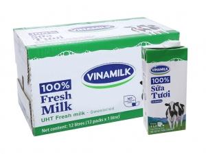Sữa tiệt trùng Vinamilk có đường hộp 1 lít (thùng 12 hộp)