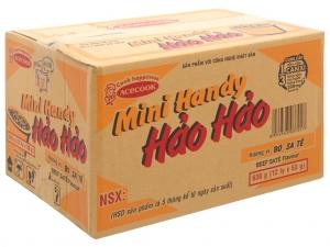 Thùng 12 ly mì ăn liền Mini Handy Hảo Hảo vị bò sa tế 53g