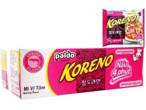 Thùng 24 gói mì Koreno vị tôm 100g