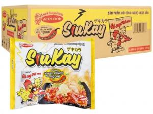 Thùng 24 gói mì gà cay phô mai SiuKay 129g