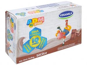 Thùng 48 hộp sữa dinh dưỡng socola Vinamilk ADM Gold 180ml