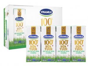 Thùng 48 hộp sữa tươi có đường Vinamilk 100% Sữa Tươi 180ml
